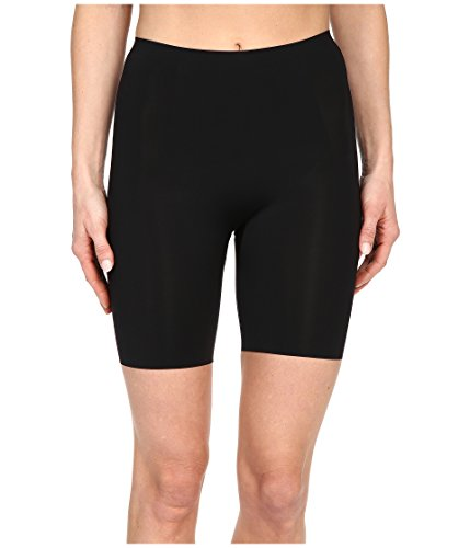 (SPANX Women's Thinstincts Mid-Thigh Short, Very Very Black, MD)