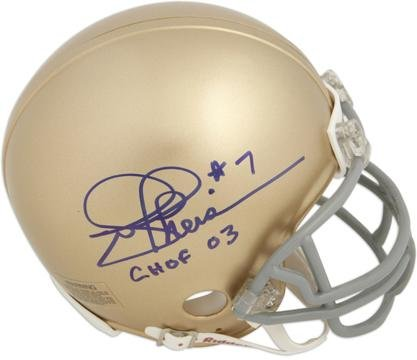 Joe Theismann Autographed Notre Dame Mini Helmet with CHOF 03 Inscription - Fanatics Authentic Certified