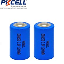 2 Pack 1/2AA ER14250 1200mAh 3.6V Li-SOCl2 Lithium Battery for Snuza baby monitor,Mac computers