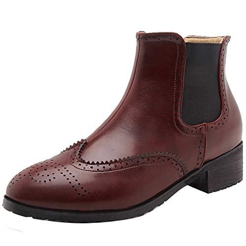 Mavirs Ankle-high Womens Maeduc Western Heel Ankle-high Mavirs 4 cm Boots, Synthetic, 8 B(M) US B07GLR6BGQ Shoes 06320b