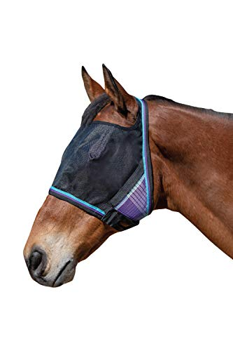 - Kensington UViator Protective Fly Mask - Newest UV Solar Screen Protection with a 90% UV Rating - Double Locking CatchMask Fasteners - Non Heat Transferring Fabric (Lavender Mint, Medium)