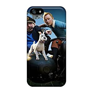 Durable Protector Case Cover With Tintin Secret Unicorn Hot Design For Iphone 5/5s