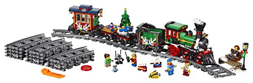 LEGO Creator Expert Winter Holiday Train 10254 Christmas Train Set with Full Circle Train Track, Locomotive, and Spinning Christmas Tree Toy (734 Pieces)