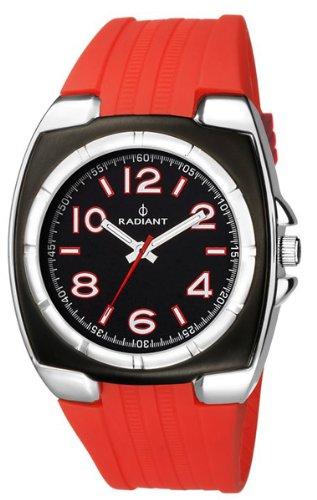 Radiant New ra117602 - Reloj de pulsera de hombre, correa de caucho color rojo: Amazon.es: Relojes