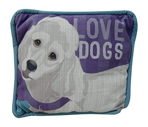 Who's Your Doggy Decorative Pillow By Giftcraft (White Poodle) [並行輸入品] B07R6YSMFN