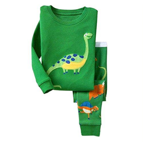 Unisex Baby Pyjamas,Laimeng Baby Dinosaur Pj's Clothes Pyjamas Set Kid Nightwear Sleepwear Homewear (2, Green)