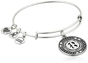 Alex and Ani Numerology Number Eight, Expandable Wire Bangle Charm Bracelet