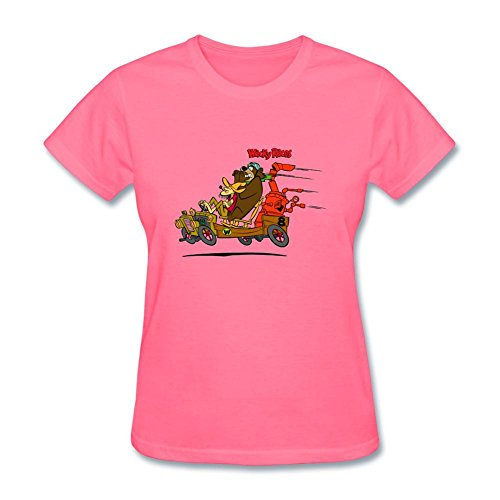 SLJD Women's Wacky Races Cartoon Design Short Sleeve T
