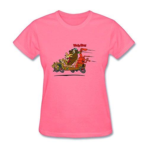 SLJD Women's Wacky Races Cartoon Design Short Sleeve T