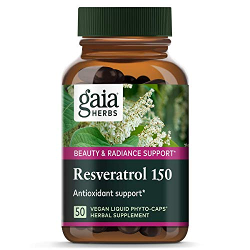 41UcJiMQYqL - Gaia Herbs Resveratrol 150, Vegan Liquid Capsules, 50 Count - Antioxidant & Cardiovascular Support for Healthy Aging, Highly Concentrated Trans-Resveratrol