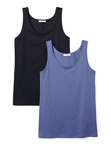- Daily Ritual Women's Lightweight 100% Supima Cotton Tank Top, 2-Pack, XL, Navy/Indigo Blue