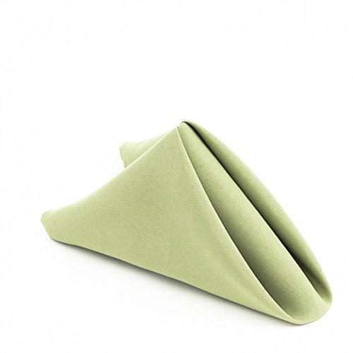 LinenTablecloth 17 in. Polyester Napkin Reseda (1 Dozen) (1)