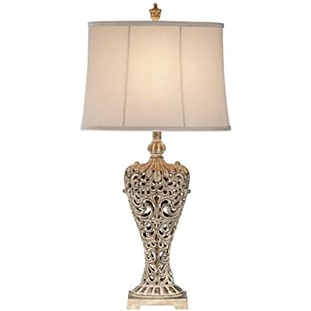 Elle carved antique gold classic table lamp amazon elle carved antique gold classic table lamp aloadofball Image collections