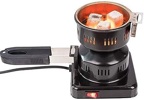 Kertou Electric Shisha Coal Encendedor Quemador de carbón Calienta hasta 450W Hot Plate Burner con Revestimiento de carbón para carbón de carbón Shisha Coal (Negro-450W-Nuevo)