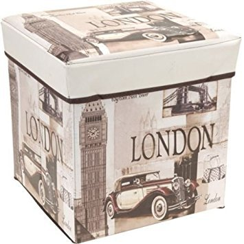 London  Storage Box Padded Bench Seat Home Furniture Bedroom London Paris USA UK (London  sc 1 st  Amazon.in : london storage boxes  - Aquiesqueretaro.Com