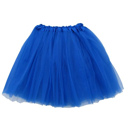 Extra Plus Size Adult Tutu XXL - Princess Costume Ballet Warrior Dash Running Skirt (Royal Blue) ()