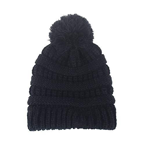 2e3b120834936 B.J Kids Baby Toddler Cable Knit Beanie Children s Pom Winter Warm SKI Hat  Beanie Hat
