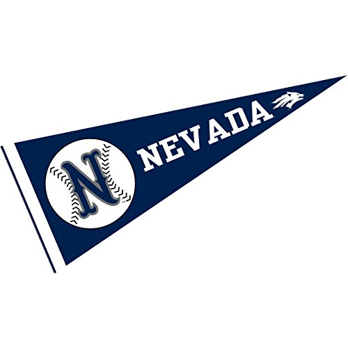 College Flags and Banners Co. Nevada Wolfpack Baseball Pennant