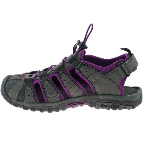 Hi-Tec , Sandales de marche pour homme Gris Charcoal/Purple 4 UK