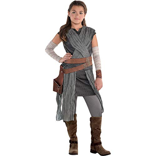 Costumes USA Star Wars 8: The Last Jedi Rey Costume for Girls, Includes Jumpsuit with Wraps and Arm Warmers