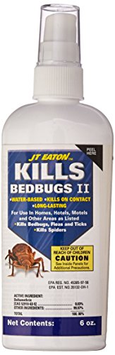 JT Eaton 207-W6Z Water Based Bedbug Spray with Sprayer Attachment, 6-Ounce Bottle