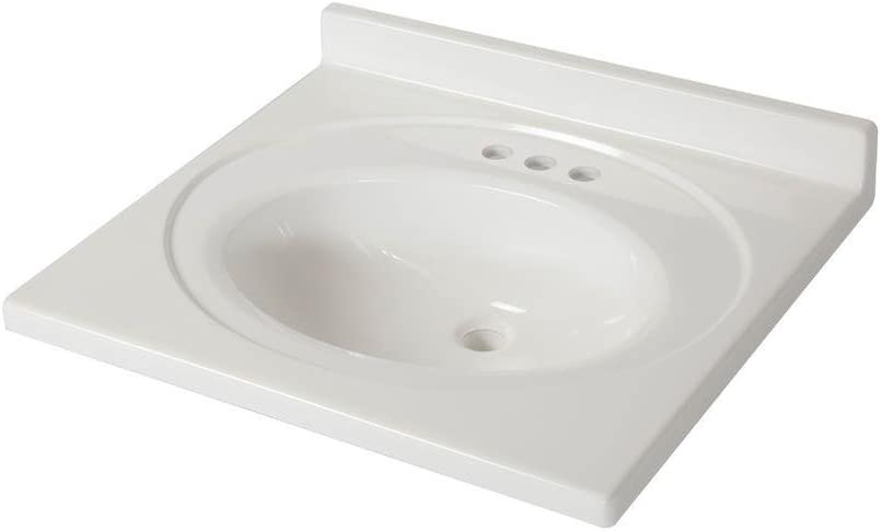 St Paul 25 In X 22 In Ab Engineered Technology Vanity Top In White Amazon Com