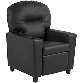 BCP Contemporary Black Leather Kids Recliner Chair with Cup Holder  sc 1 st  Amazon.com & Amazon.com: BCP Contemporary Black Leather Kids Recliner Chair ... islam-shia.org