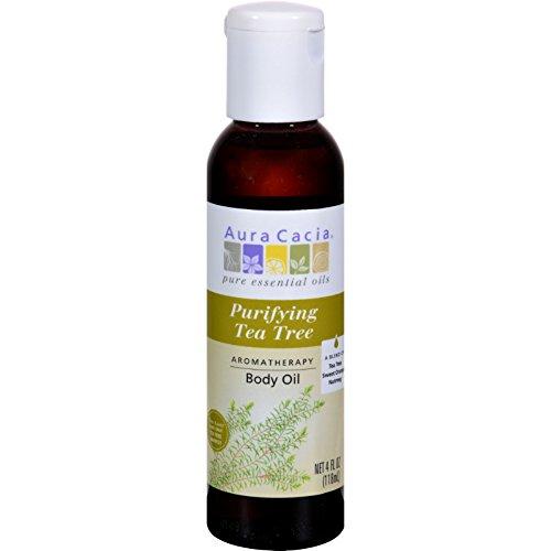 Aura Cacia Body Oil Tea Tree Harvest -- 4 fl oz