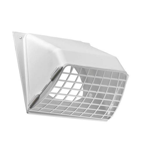Lambro Industries 1471W Dryer Vent Hood with Removable Screen, 4 in, White - 531032