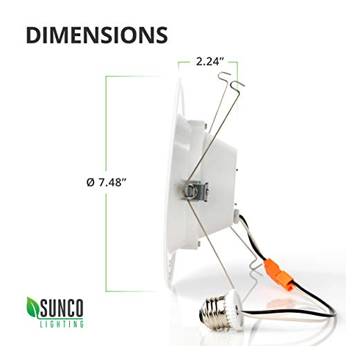 Sunco Lighting 12 Pack 5/6 Inch LED Recessed Downlight, Baffle Trim, Dimmable, 13W=75W, 5000K Daylight, 965 LM, Damp Rated, Simple Retrofit Installation - UL + Energy Star by Sunco Lighting (Image #8)'
