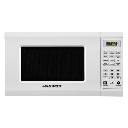 Black Decker EM720CPI-PMW 700-watt Microwave, 0.7 Cubic Feet, White