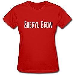 YZ Sheryl Crow Tour 2015 Fan Logo T Shirt For Women Red S
