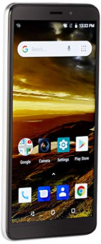 NUU Mobile A5L 5.5 16GB/1GB RAM - Unlocked Cell Phone - Android Oreo (Go Edition) GSM 4G LTE Only - U.S. Warranty (Silver)