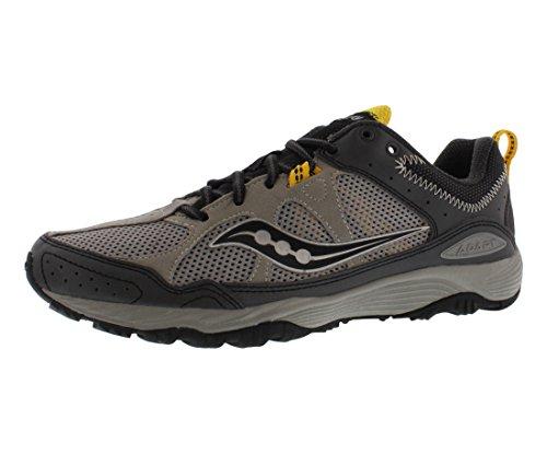 Saucony Men's Adapt Running Shoe,Grey/Black/Yellow,8 M US Adapt-M