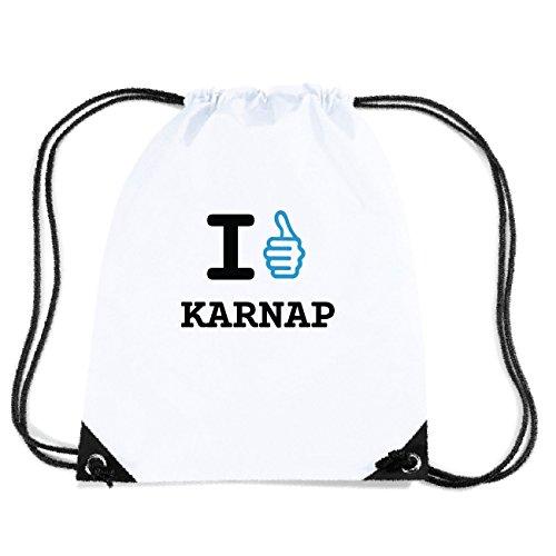 JOllify KARNAP Turnbeutel Tasche GYM532 Design: I like - Ich mag jh0Nd8r