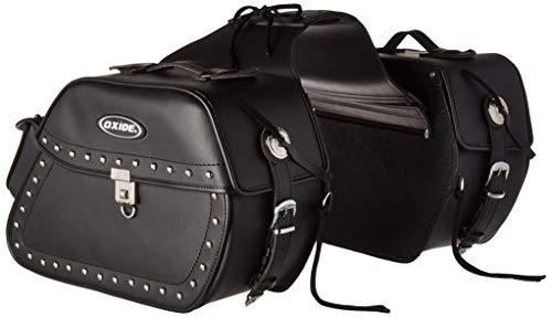New Oxide 40L Premium Tek Leather Lockable Cruiser Saddle Bags, Travel panniers