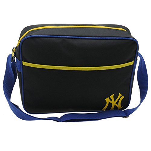 New York Yankees MLB Flight Bag, navy/gelb Baseball Messenger Schultertasche