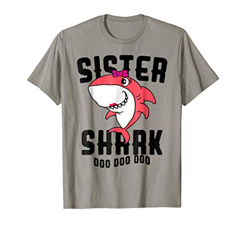 Sister Shark T Shirt Daughter Girls Halloween Christmas