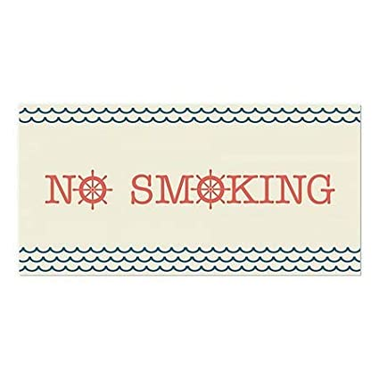 24x12 5-Pack No Smoking Nautical Wave Window Cling CGSignLab