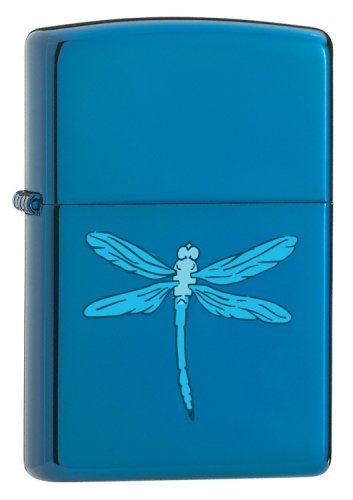 (Sapphire, Sapphire Dragonfly (ZI21041) Category: Mood Zippo Lighters)