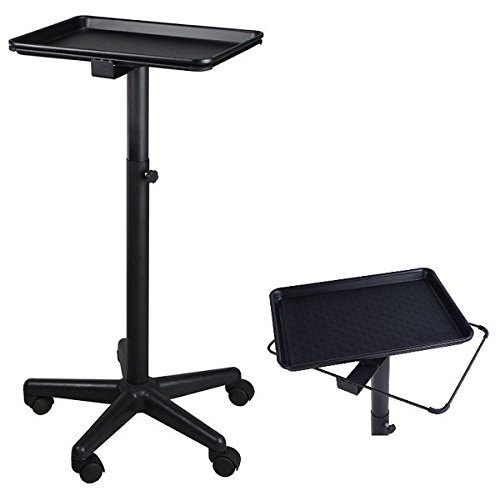 Service Trolley - Black Style - Colouring Hair Spa Tattoo Styling Dentist Salon Hairdresser Pet ST-TRAY-MAT-BLK
