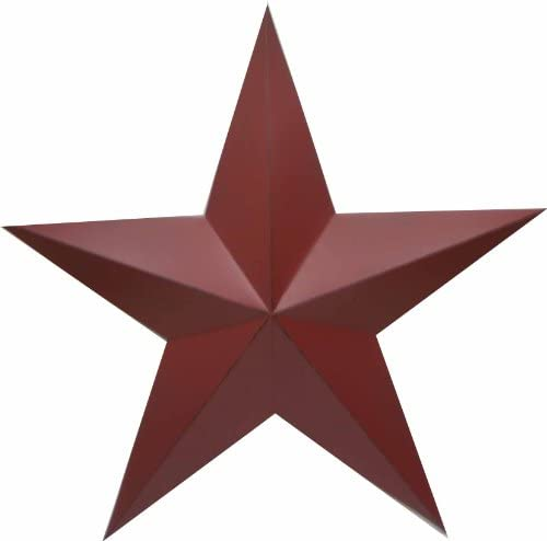 Craft Outlet Antique Star Wall Decor, 36-Inch, Barn Red