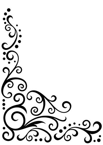 Darice EFBG-768 Embossing Folder Background, 5 by 7-Inch, Scroll Flourish Corner