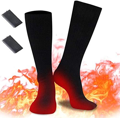 Verwarmde sokken, elektrische verwarmingskokken voor dames en heren, oplaadbare verwarmingskokken, winterwarme katoenen…