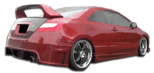 Duraflex ED-OXV-634 Sigma Rear Bumper Cover - 1 Piece Body Kit - Compatible For Honda Civic 2006-2011