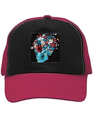 Unisex Flower Skull Adjustable Classic Hiphop Hat Baseball Cap Snapback Dad Hat
