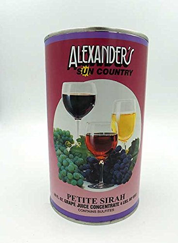 - Alexanders Sun Country Wine Grape Concentrate- Petite Syrah 46 oz can