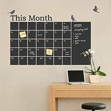 Nueva Pizarra de Vinilo DIY 2018 Calendario de Pared 6 Bird ...