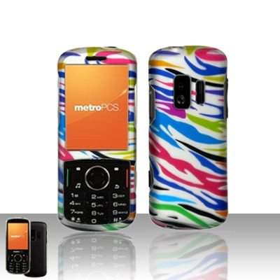 ZTE Agent E520 MetroPCS Rubberized Colorful Zebra HARD PROTECTOR COVER CASE SNAP ON PERFECT FIT