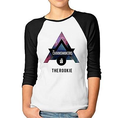 Women's The Rookie The Chainsmokers Logo 3/4 Sleeve 100% Cotton Baseball Tee Baseball Jerseys